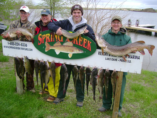 Dave Meyer, Mike Stedola and his boys from Des Moines, Iowa