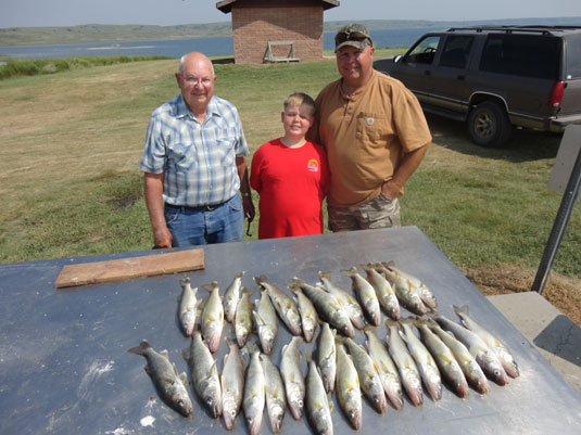 Lakes Oahe/Sharpe Pierre Area fishing report for July 1st 2nd and 3rd 2013