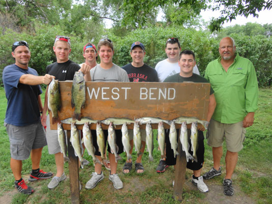 Lakes Oahe/Sharpe Pierre area fishing report for July 7th, 8th. 9th, and 10th 2013