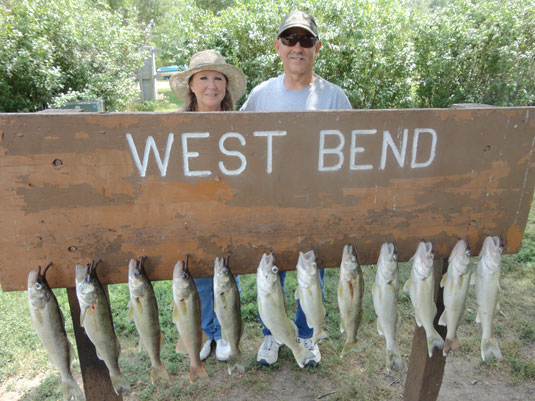Lakes Oahe/Sharpe Pierre area fishing report for July 15th thru July 18th 2012