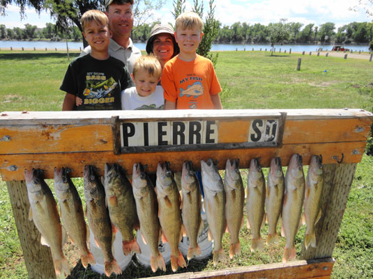 Lake's Oahe/Sharpe fishing report for the Pierre Area July 26th to the 30th July 2013