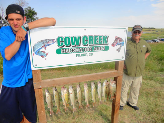 Lakes Oahe/Sharpe Pierre area fishing report for July 30th to Aug 6th 2013