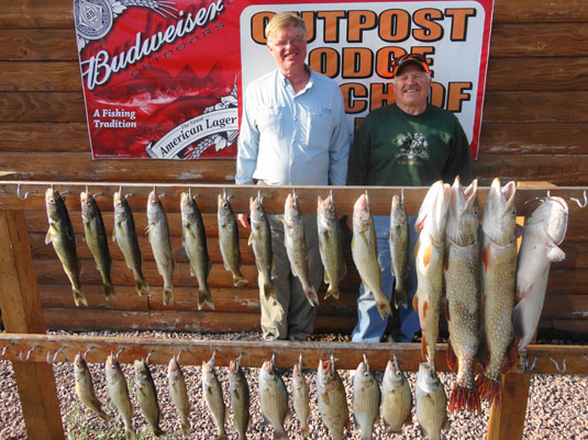 Lakes Oahe/Sharpe fishing report for the Pierre area August 7th to August 10th 2013