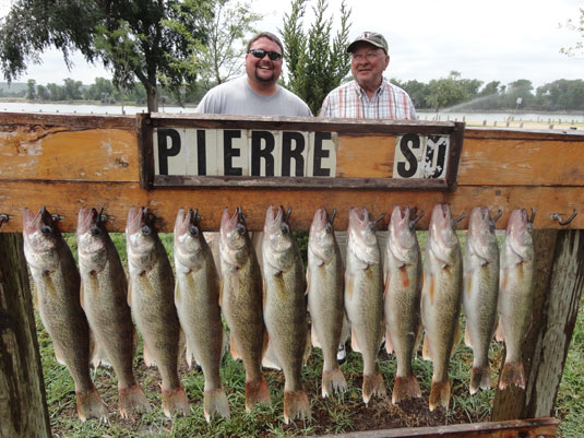 Lakes Oahe/Sharpe Pierre area fishing report for August 15th thru the 17th 2013