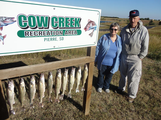 Lakes Oahe/ Sharpe Pierre area fishing report for Sept 16th thru Sept 22nd 2013