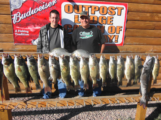 Lakes Oahe/Sharpe Pierre area fishing report for Sept 23 to Sept 28th 2013
