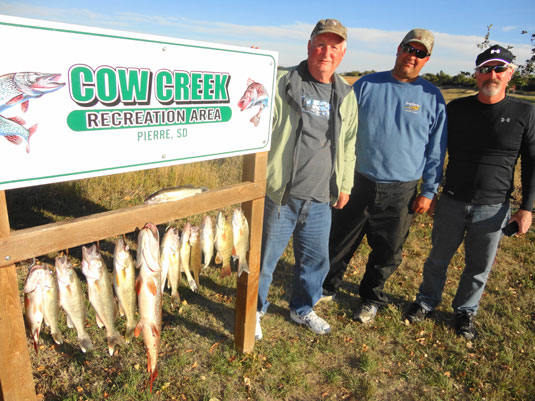 Lakes Oahe/Sharpe Pierre area fishing report for October 7th thru the 12th 2013