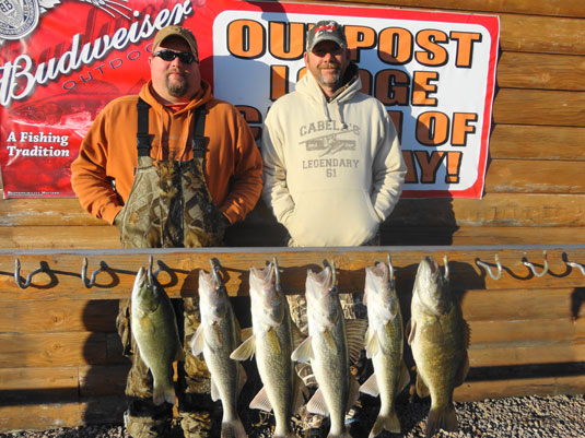 Lakes Oahe/Sharpe Pierre area fish/hunt report for November 15th thru 30th 2013