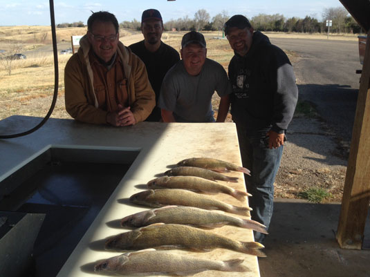 Lakes Oahe/Sharpe Pierre area fishing report for April 16th thru the 19th 2015