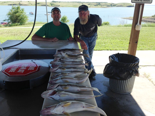 Fishing Report Pierre Area Lakes Oahe/Sharpe June 21 and 22, 2012