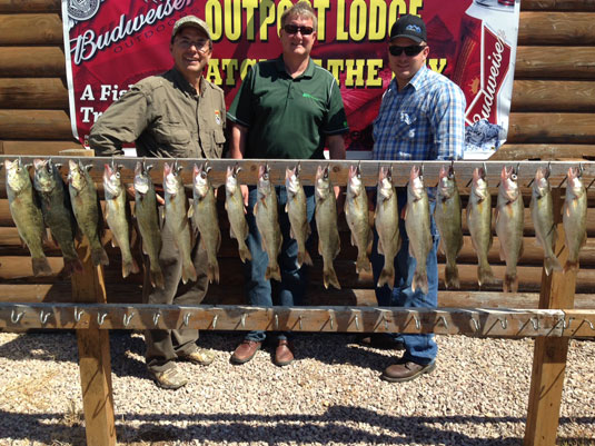 Fishing Report for Lakes Oahe/Sharpe Pierre area June 23rd and 24th 2015