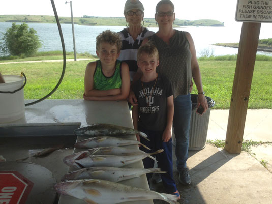 Fishing Report Lakes Oahe/Sharpe Pierre area for July 1st to the 5th 2015