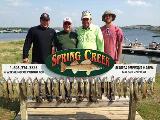 Fishing report for Lakes Oahe/Sharpe Pierre area July 6th and 7th 2015