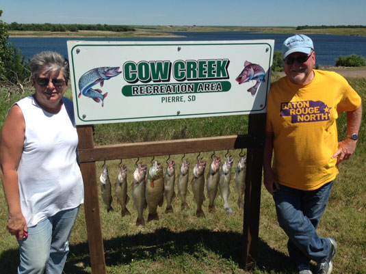 Fishing Report Lakes Oahe/Sharpe Pierre area for July 22nd 23rd and 24th 2015