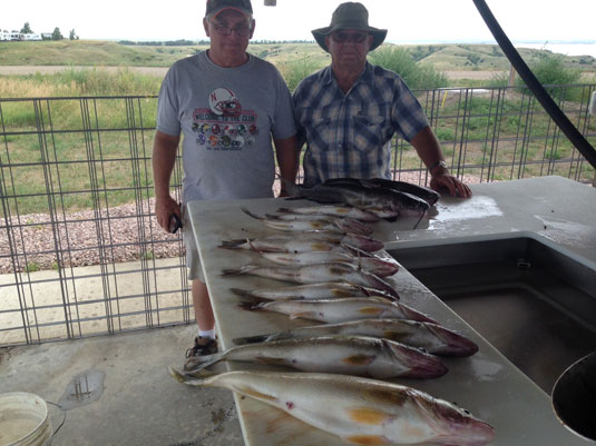 Fishing Report Lakes Oahe/Sharpe Pierre area 5th thru the 8th August 2015