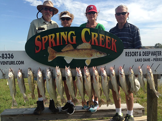 Fishing report Lakes Oahe/Sharpe Pierre area for Sept.1st to the 5th 2015