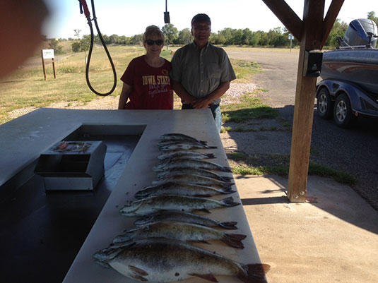 Fishing Report Lakes Oahe/Sharpe Pierre Area for September 17th thru the 20th 2015