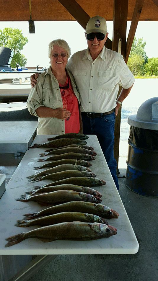 Fishing Report Lakes Oahe/Sharpe Pierre area for August 14th thru the 17th 2015