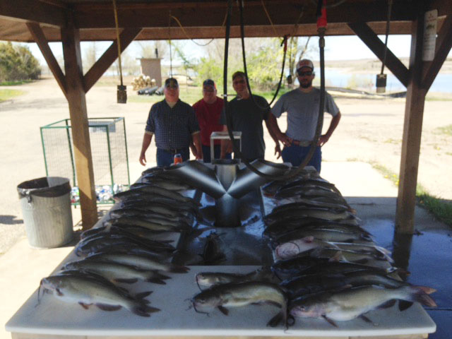 FISHING REPORT LAKES OAHE/SHARPE MAY 1ST TO MAY 5 2017