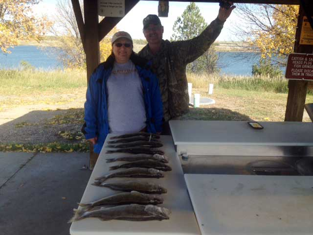 FISHING REPORT LAKES OAHE SHARPE PIERRE AREA SEPT 28TH THRU OCT 2ND 2017