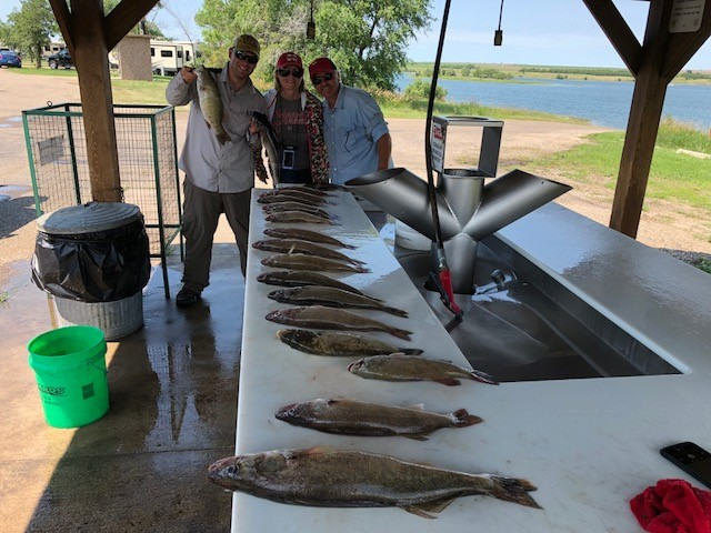 FISHING REPORT LAKES OAHE/SHARPE PIERRE AREA FOR LAST OF JUNE TO JULY 12TH 2018